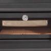 Horno con ladrillo refractario y bandeja de acero inoxidable de 480x400x60mm y termómetro de 500 ºC para controlar la temperatura.