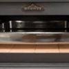 Horno con ladrillo refractario y bandeja de acero inoxidable de 480x400x60mm