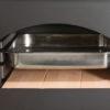 Horno con ladrillo refractario y bandeja de acero inoxidable de 325x365x60mm